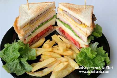 Biftekli Kulüp Sandviç Tarifi