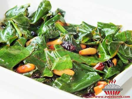 Catalan Usulü Ispanak Salatası