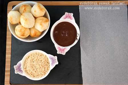 Çikolatalı Hindistan Cevizi Topları Tarifi4