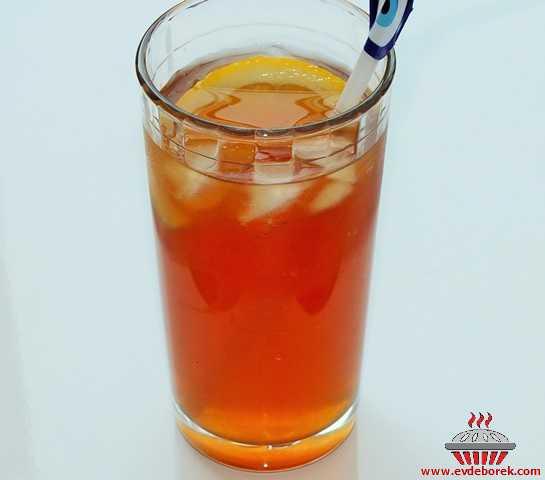 Evde Buzlu Çay Yapımı