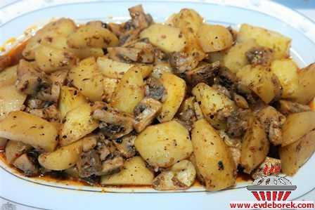 Fırın Poşetinde Patates Mantar