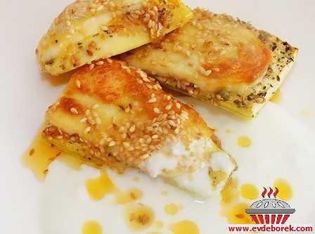 Hellim Peynirli Fırında Kabak