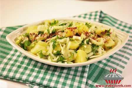 Kerevizli Patates Salatası