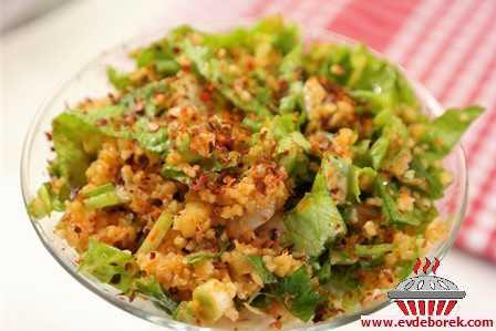 Mantarlı Bulgur Salatası