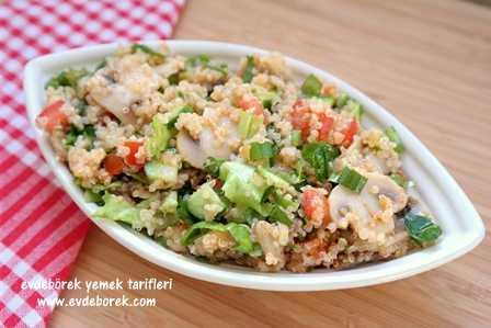 Mantarlı Kinoa Salatası Tarifi