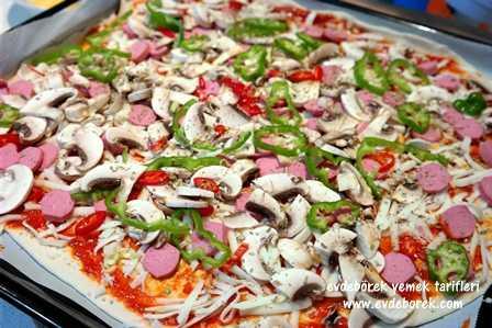 Milföy İle Tepsi Pizza Tarifi