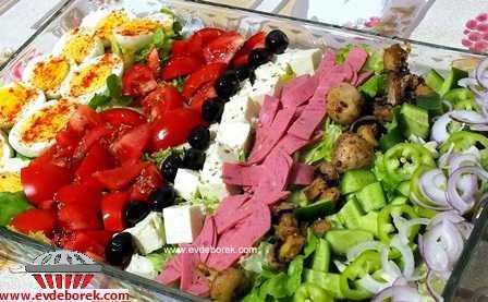 Mozaik Salata Tarifi