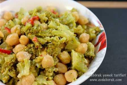 Nohutlu Brokoli Salatası Tarifi2