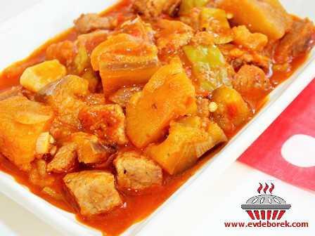 Parça Etli Patlıcan Kebabı