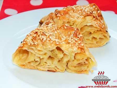 Patatesli Köz Patlıcanlı Gül Böreği