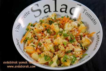 Patatesli Lahana Salatası Tarifi