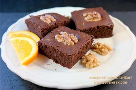 Portakallı Cevizli Brownie Tarifi