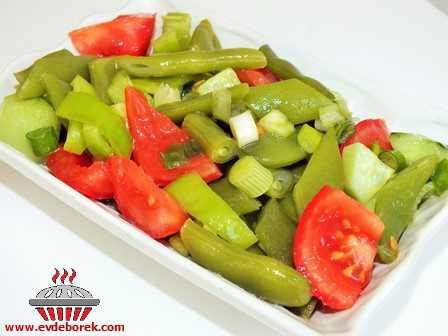 Taze Fasulyeli Salata